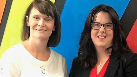 Karen Rogers, commercial director at Corbel Solutions, left, with Claire Brooks, relationship direct