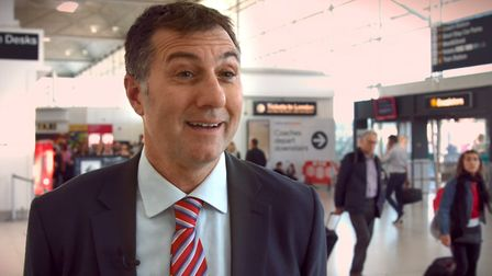 Screenshot of Ronnie Irani on the Stansted campaign video