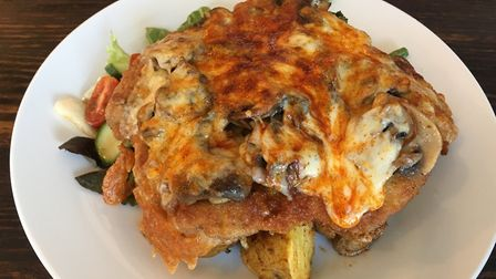 Schnitzel with cheese and mushrooms Picture: Archant