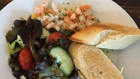 Prawns in white wine sauce Picture: Archant