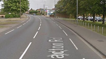 A motorcyclist has been injured after a crash on Nacton Road in Ipswich Picture: GOOGLE MAPS