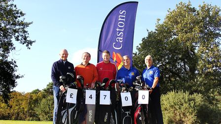 Castons annual golf day raised £4,700 for the Nick Fayers Amend charity campaign. From left to right