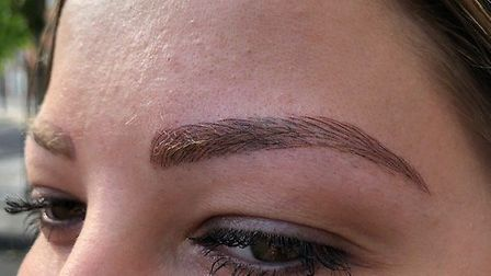 Microbladed brows PICTURE: Sue Adams