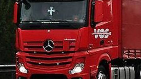 Red lorry. Picture: Archive