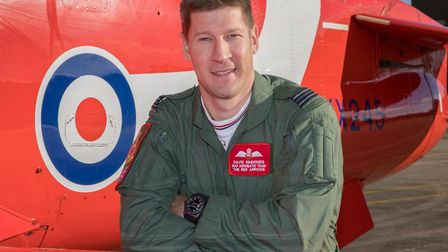 Ipswich-born Flt Lt David Simmonds, who is joining the Red Arrows Picture: CPL ASHLEY KEATES/RAF