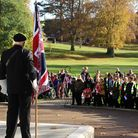 School children turn out for a special Remembrance Service in Christchurch Park organised by Royal B