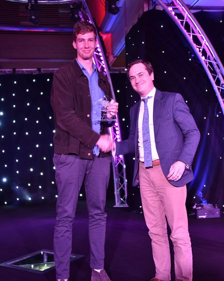 The Judges special award was presented by Oli Watts to Alex Mann at the awards ceremony. Picture: