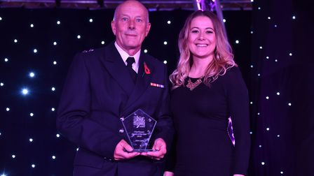 The Fire Service award was presented by Ellis Barker to John Last at the Stars of Suffolk 2018. Pi