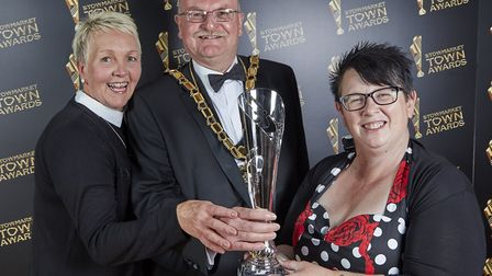Jill Roberts and Michelle Frost were winners at the Stowmarket Town Awards last year Picture: JOE TA