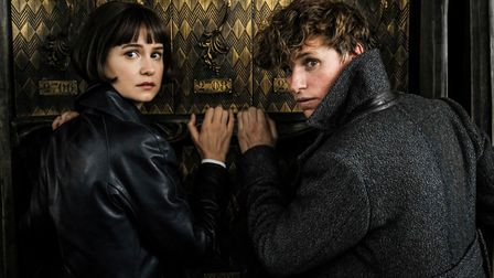 Eddie Redmayne and Katherine Waterston in Fantastic Beasts, a new exploration of Harry Potter's wiza