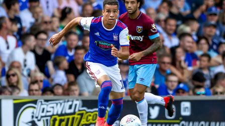 Tristan Nydam is on loan at St Johnstone. Photo: Steve Waller