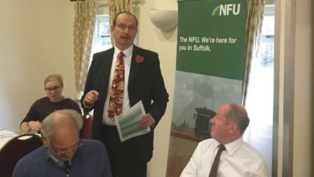 NFU Suffolk branch members at their AGM Picture: SARAH CHAMBERS