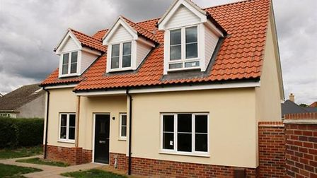 This brand new detached chalet in West Row is available for £300,000 from Abbotts Countrywide. Pict
