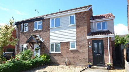 This three-bedroom house in Ravens Lane, Bramford, has a guide price of �295,000. Picture: FENN WRIG