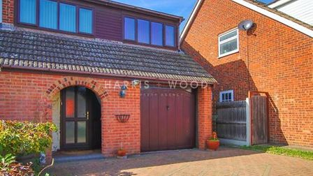 This house in Mayberry Walk, Colchester, is on the market for offers over £300,000. Picture: HARRIS