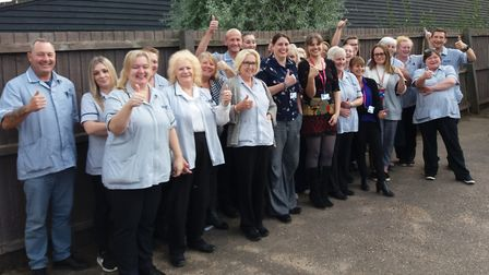 The Mid Suffolk Home First care service has received an Oustanding rating in their last report Pictu