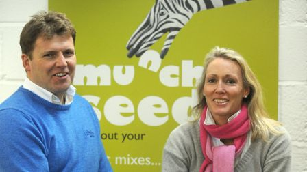 The founders of Munchy Seeds, Lucinda and Crispin Clay