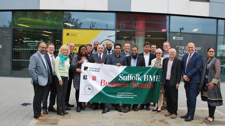 Launch of the 2018 Suffolk Business Awards, at the University of Suffolk, with organisers and sponso