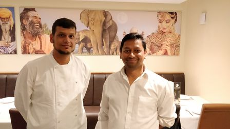 Ahabur Choudhury (Shuel) with Rofique Ali of The Curry Inn, in Needham Market Picture: MOHAMMED ALAM