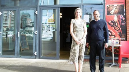 Rebecca and Azzouz El-Mahraoui, owners of Coffee Link, At Ipswich Waterfront Picture: DAVID VINCENT