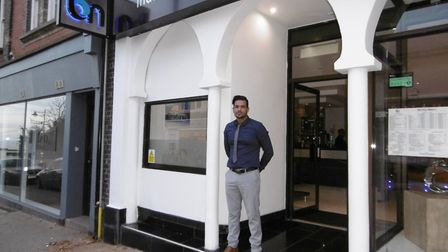 Johnny Hussain, owner of Blue Naan, Indian fusion restaurant in Hamilton Road, Felixstowe Picture: D