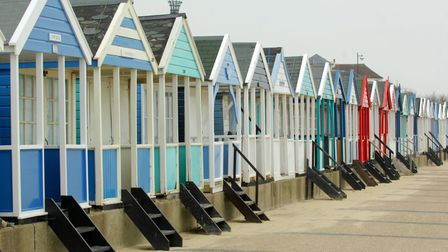 Southwold beach huts. Picture: NICK BUTCHER