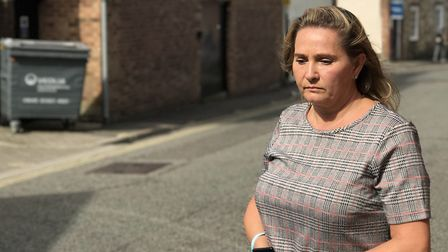 Corrie's mother Nicola Urquhart returns to Bury St Edmunds on the two-year anniversary of her son's