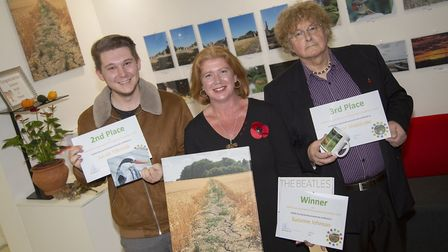 Photography winners from left Jacob Tilbrook, Suzanne Johnson and Trevor Sheldrake Picture: ZENITH P