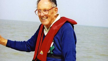 John Potter grew up by the River Deben, and loved sailing and being on the water Picture: POTTER FA