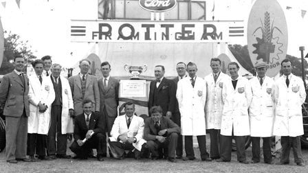 Potters of Framlingham won first prize for their stand at the Suffolk Show in 1949, when it was held