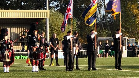 Observing Remembrance at King's Marsh Stadium on Saturday