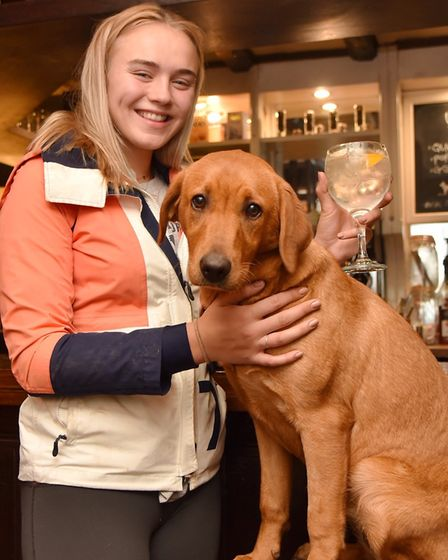 Pip Taylor with Margot at The Dog in Grundisburgh. Picture: SONYA DUNCAN