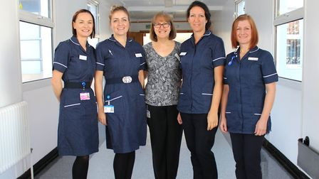 Some of the maternity team at West Suffolk NHS Foundation Trust: (From left to right) Justyna Skonie