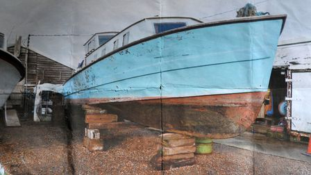 Photograph of how the boat looked before the restoration Picture: SARAH LUCY BROWN