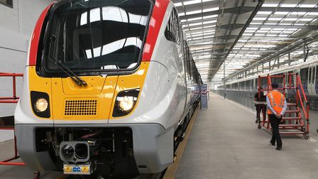 The new Bombardier Aventra train being built at Derby. Picture: PAUL GEATER