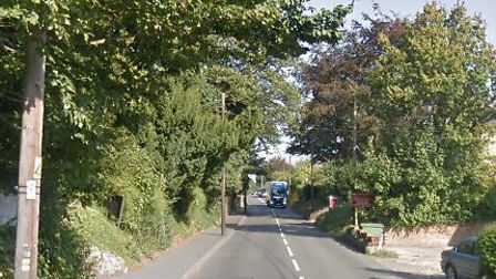 The incident happened between Cornard Road and Newton Road Picture: GOOGLE MAPS