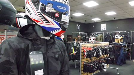 Orwell Motorcycles sells protective, safety clothing and staff can make sure it fits correctly. Pict