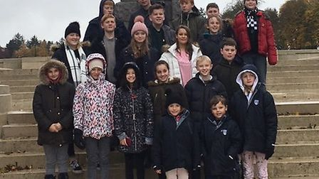 Twenty students and staff made the trip to northern France and Belgium Picture: FINBOROUGH SCHOOL