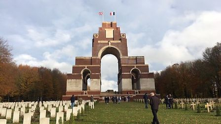The children visited key sites in northern France and Belgium Picture: FINBOROUGH SCHOOL