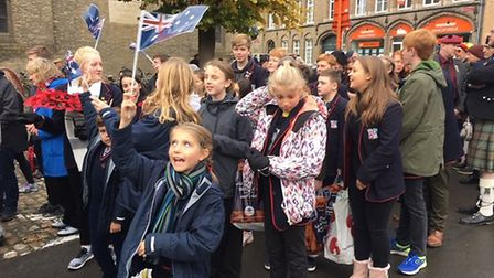 The students were honoured to take part in a major procession to mark the centenary Picture: FINBORO