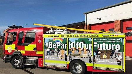 The new-look graphics on the vehicle Picture: SUFFOLK FIRE AND RESCUE