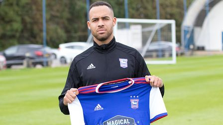 Winger Jordan Graham was signed for Ipswich Town on a season long loan from Wolves. Picture: ITFC