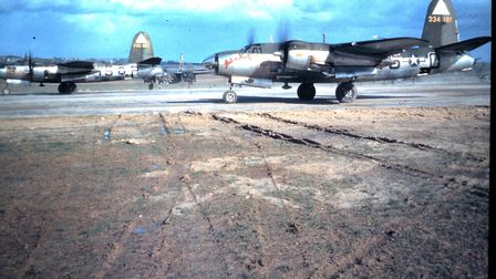 B-26 Marauders preparing to take off from Stansted Picture: LONDON STANSTED AIRPORT