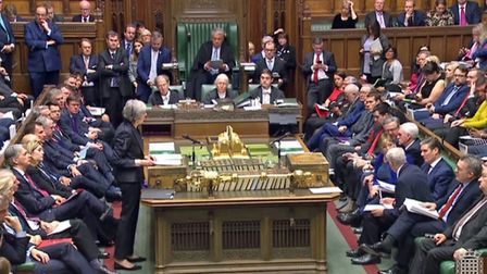 Prime Minister Theresa May makes a statement on the draft Brexit withdrawal agreement in the House o