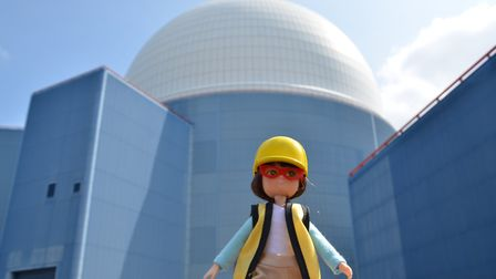 Inspiring the next generation of women engineers. Lottie the engineering doll at Sizewell B, Suffolk