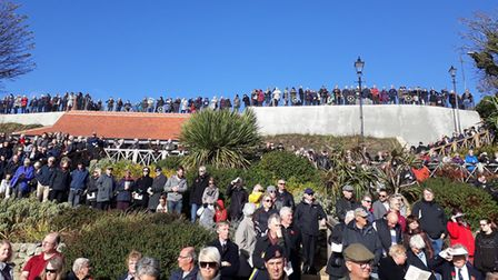 The largest crowds many people had seen - estimated at more than 3,000 - turned up to the Felixstowe