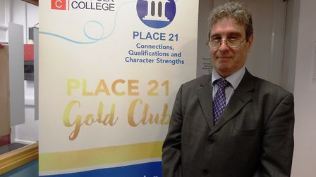 Anrew Wheeler, PLACE21 Gold Clulb Project Manager. Picture: WEST SUFFOLK COLLEGE