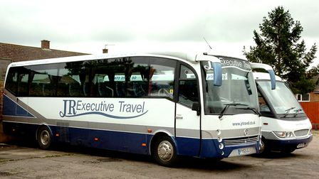 Photograph Simon Parker Two of the former fleet of buses at JR Travel in Copdock