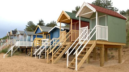 A place to change for a swim - a beach hut at Wells-Next-The-Sea. Picture: Colin Finch