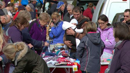 A charity fund raising car boot sale in Melton in 2015. Picture: Simon Parker